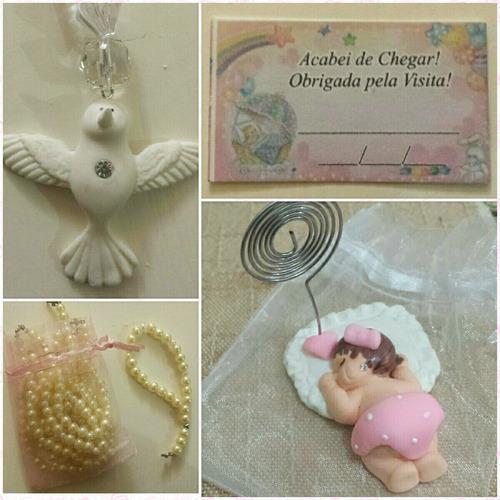 lembrancinha maternidade menina chaveiro - íma biscuit c/ 10