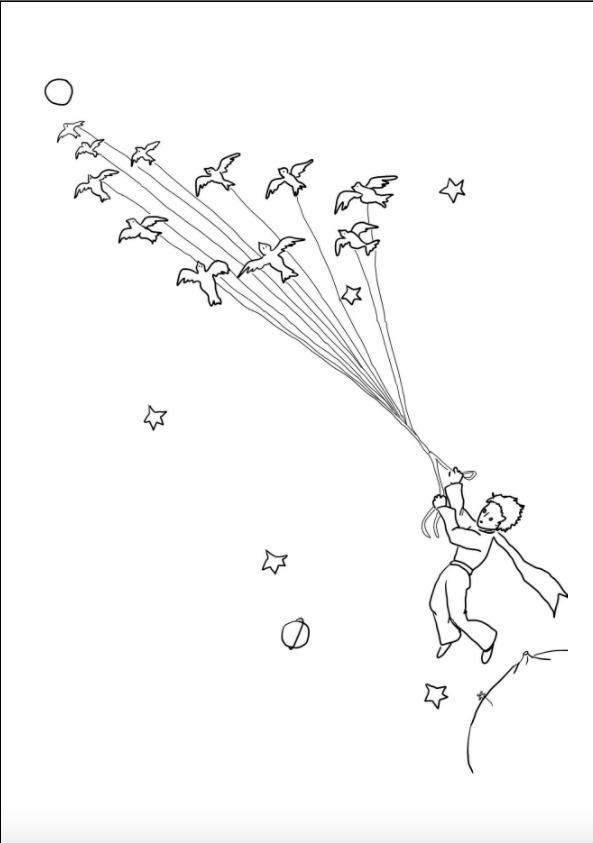 Lembrancinha Pequeno Principe 25 Lapis Livro Colorir Perso R