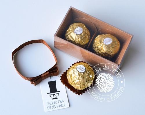 lembrancinha personalizada dia dos pais caixa de chocolate