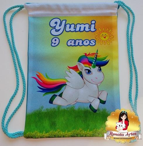 lembrancinha personalizada unicornio / 30un.