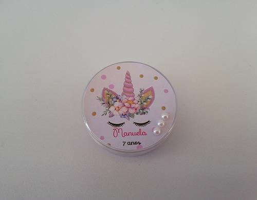 lembrancinha unicórnio lilás10tubetes 10latinhas 10caixinhas