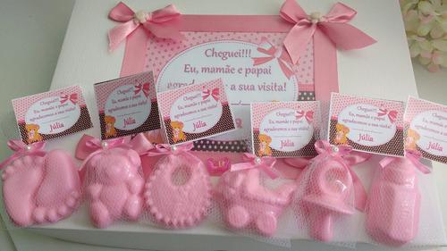 lembrancinhas maternidade/chá bebê. caixa com 30 unid