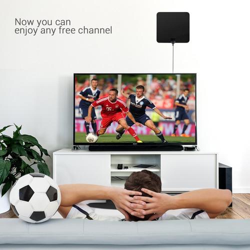 lemego antena de tv hdtv digital de 50 millas de alcance
