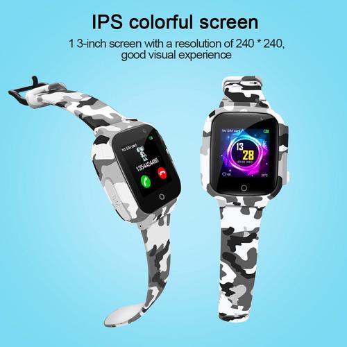 lemfo lec2 kids smart watch 1.3 '' ips tela colorida