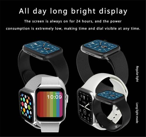 lemfo w68 reloj inteligente plateado original