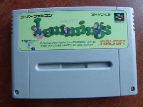 lemmings super famicom zonagamz japon
