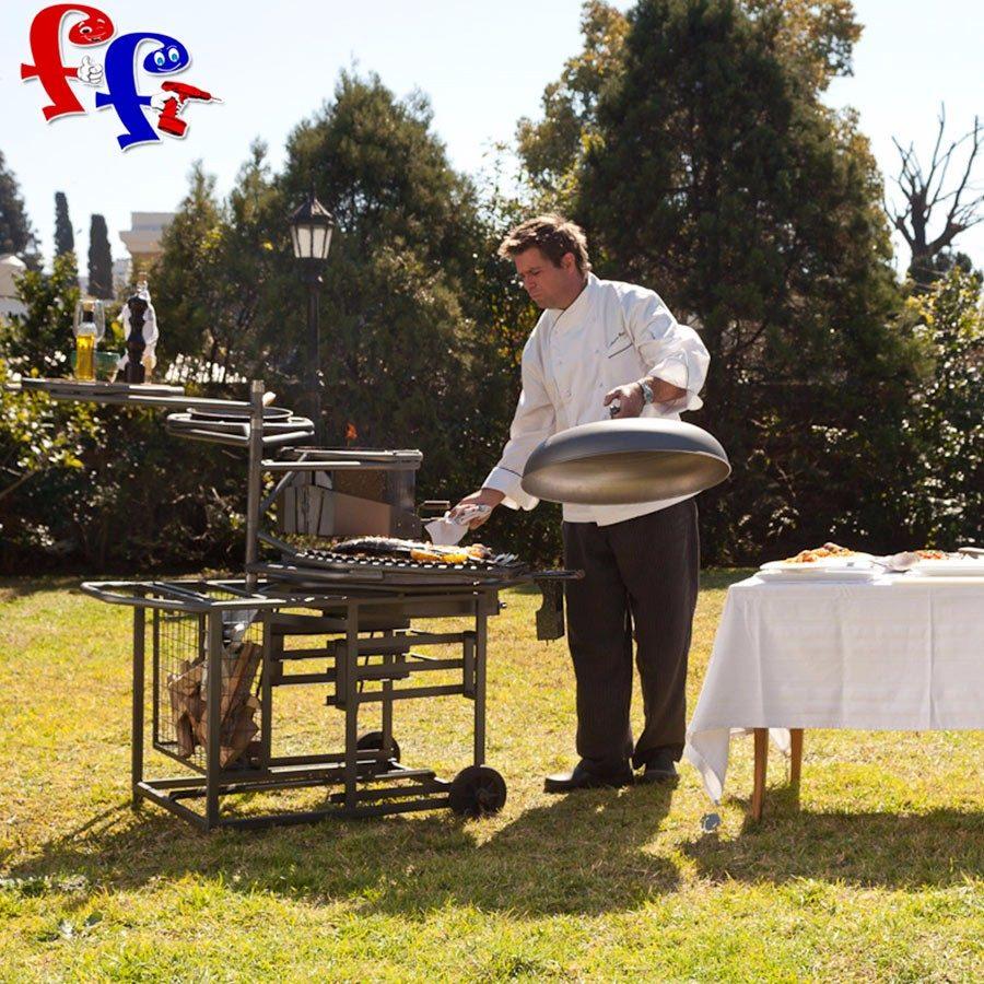 Horno parrilla a le a exterior jardin multifuncion uke - Parrillas y hornos a lena ...