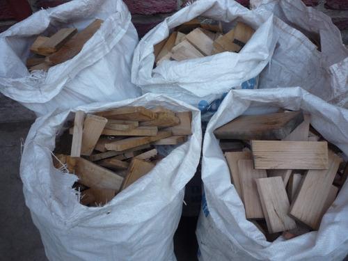 leña seca de despuntes de eucaliptus y coigue para chimeneas