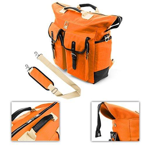 lencca premium bolso mochila cartera funda estuche para acer