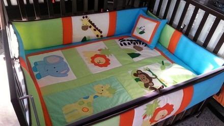 lenceria cama cuna & cuna corral cuarto bebe acolchada