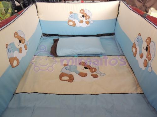 lenceria cuna corral tipo graco bebe 100% algodón 70x100 cms