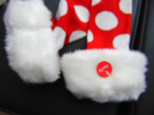 lenceria navideña set bra  peluche medias santa claus