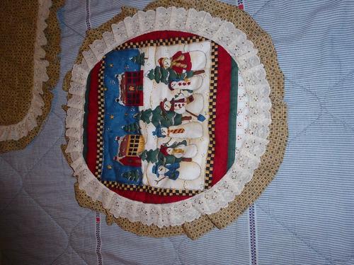 lencería para baño motivo navideño 3 piezas tono beige