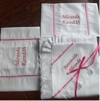 lenceria para bebe bordado