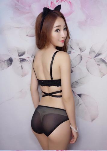 lenceria sensual y elegante - sexy conjunto bra y panty