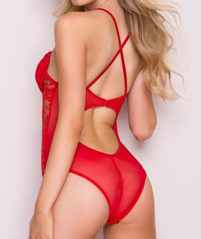 92e6d5ec99 Lenceria Sexy Body Color Rojo -   980