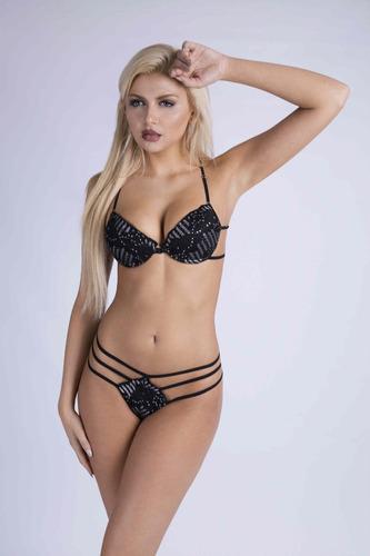 lenceria sexy brasier hilo dental