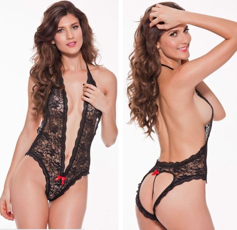 2e49d0d3a451 Lenceria Sexy Para Mujer Baby Doll Teddy Erotico Negro 9