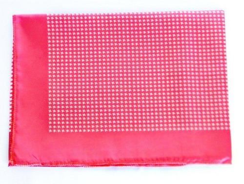 lenço carijo vermelho com branco 80x80