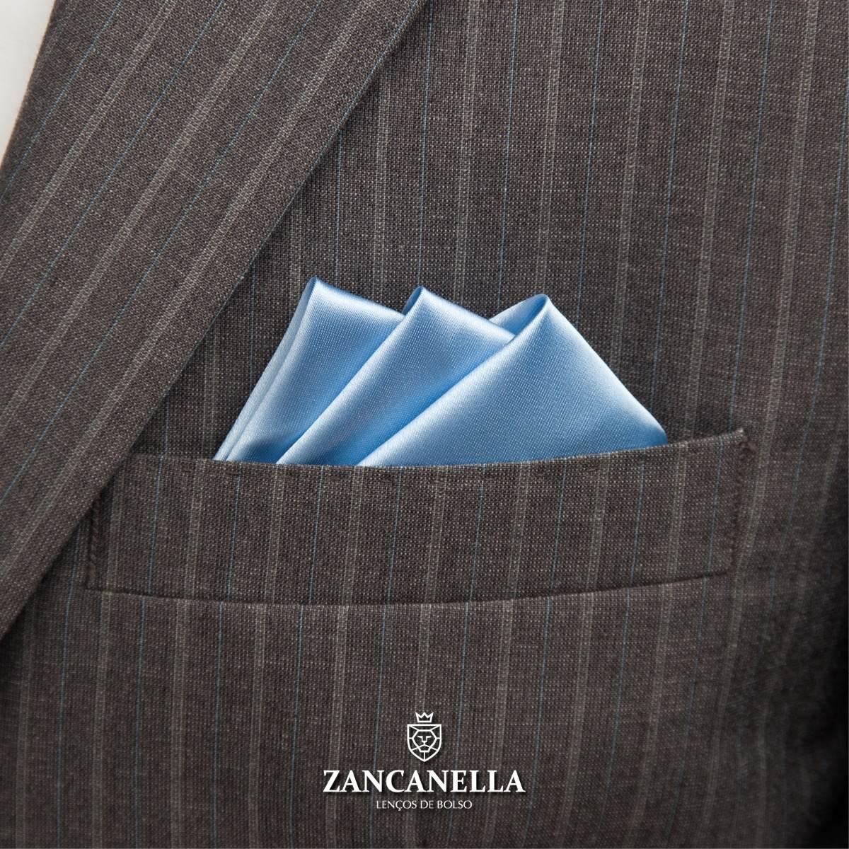 d7c60e74d7f lenço de bolso masculino - azul claro. Carregando zoom.