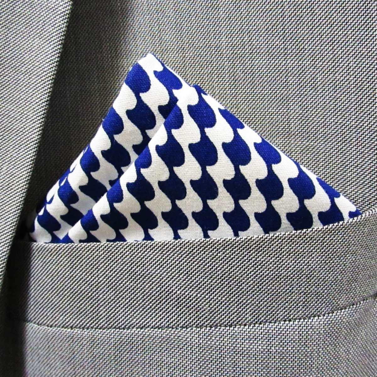 5c811e6ac3b lenço de bolso masculino azul e branco. Carregando zoom.