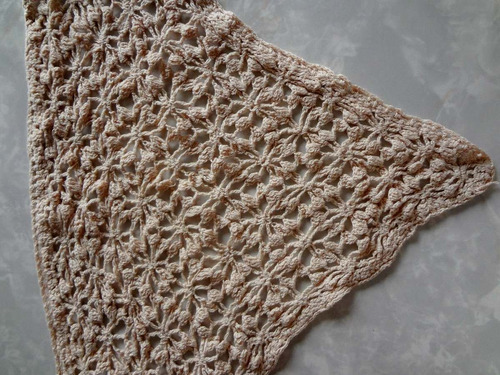 lenço de croche