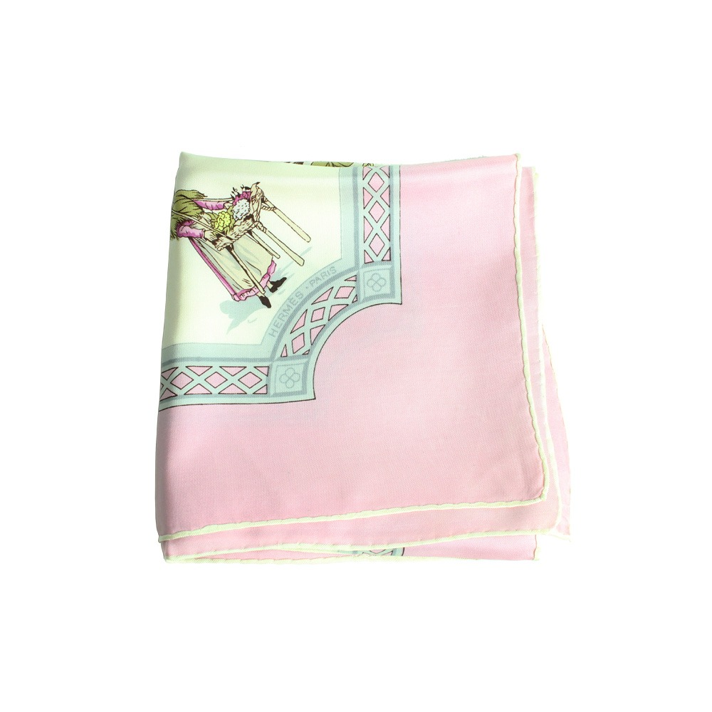 3ddb3561014 lenço de seda hermes rosa 90x90 carre hermes. Carregando zoom.
