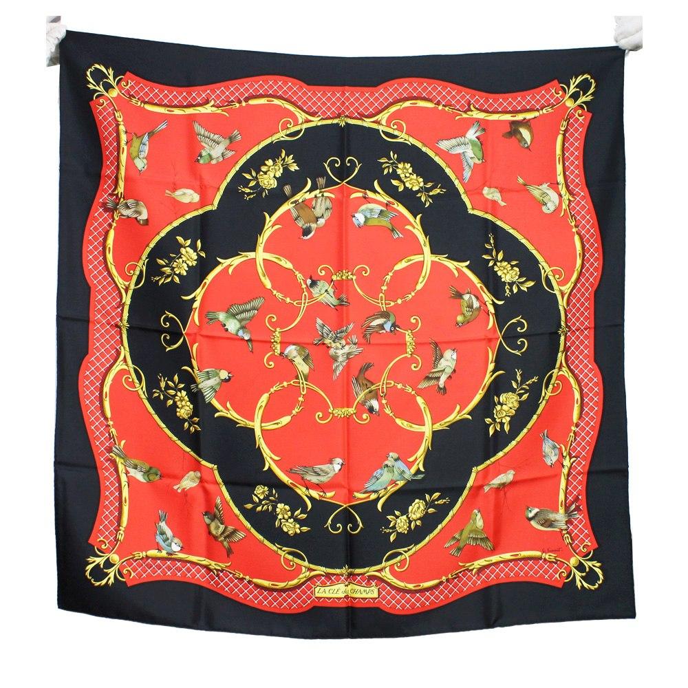 828c236c690 lenço de seda hermes vermelho e preto 90x90 carre hermes. Carregando zoom.