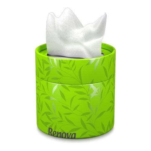 lenço facial renova - lenços brancos caixa verde