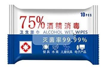 lenço gel alcool mão bolsa viagem umedecido antisséptico