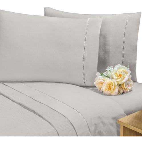 lençol avulso c/ elástico percal 400 fios cama queen