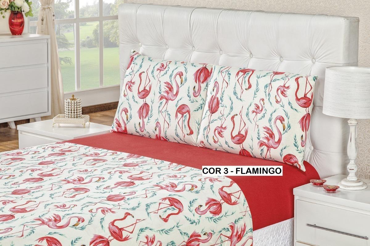 bba579a170 lençol de malha 100% algodão quality casal king 4 peças rosê. Carregando  zoom.