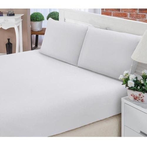 lençol solteiro 2 peças 100% algodão percal 180 fios hotel