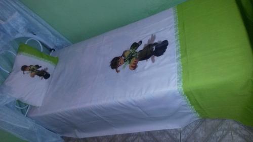 lençol solteiro ben 10 para cama box