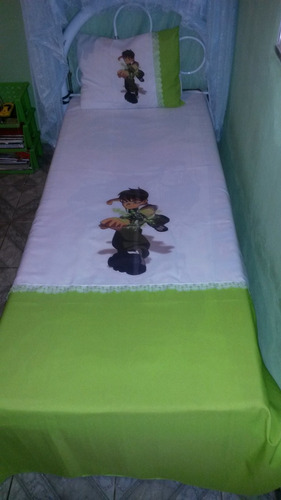 lençol solteiro cama