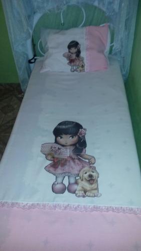 lençol solteiro para cama box jolíe tamanho 1,80 x 2.40