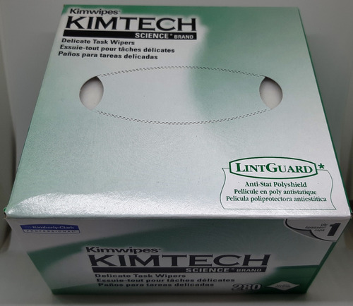 lenços kimtech limpeza de ópticos - 280 folhas
