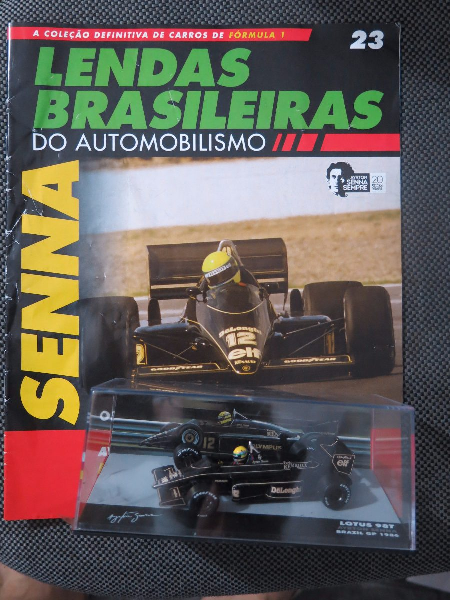 6244b117c306 Lendas Brasileiras Lotus 98t Ayrton Senna 1 43 Nº23 - R  99