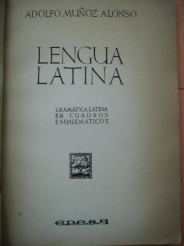 lengua latina - adolfo muñoz alonso