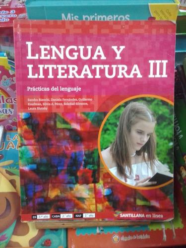 lengua y literatura 3 en linea - santillana - usado - devoto