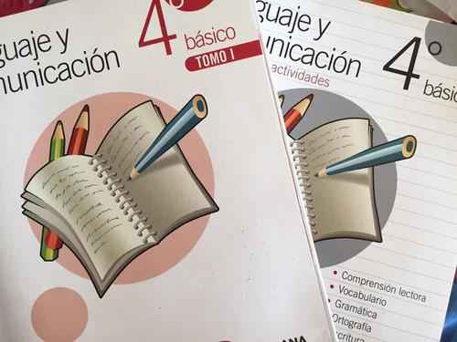 lenguaje y comunicación 4 básico tomo 1 y 2 mas cuadernillo