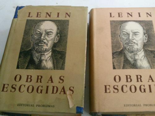 lenin obras escogidas 3 volumes em espanhol 1946