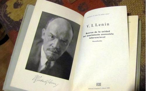 lenin.acerca dela unidad del movimiento comunista internacio