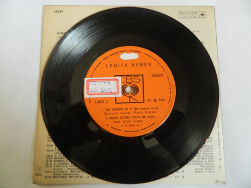lenita nunes 1965 afinal de contas - compacto ep 7