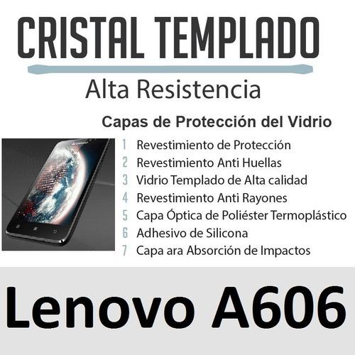 lenovo a606, 606, protector vidrio templado, envio gratis