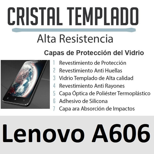 lenovo a606, 606, protector vidrio templado, villavicencio