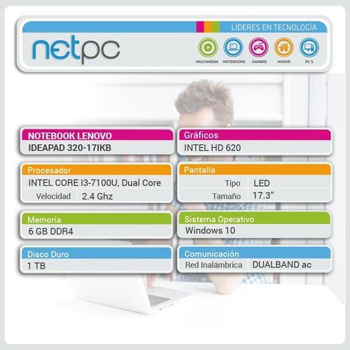 lenovo ideapad 320-17ikb i3 6gb 1tb outlet netpc