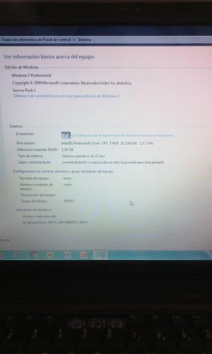 lenovo n500 t3400 2.17 ghz 1.50 ram ddr2 rapida garantia!