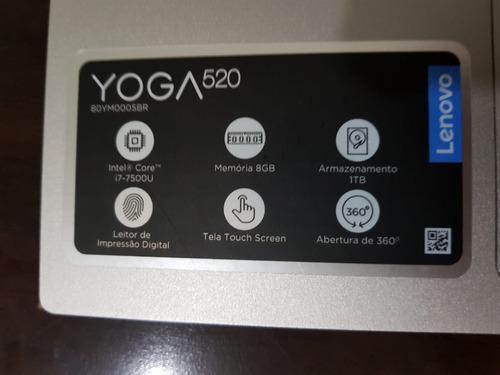 lenovo yoga 520 2 em 1-i7 7500u 8gb-m2 128gb+1tb+gar extend