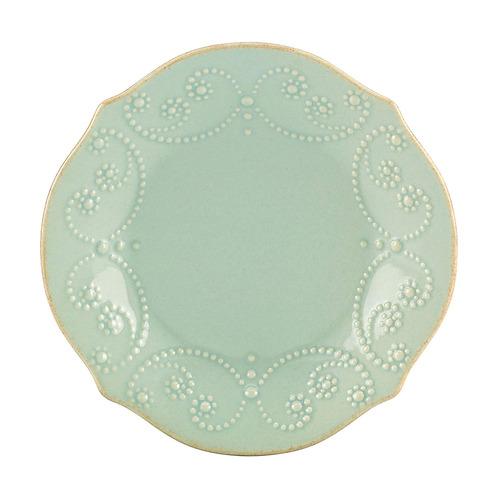 lenox french perle tidbit plate, azul hielo